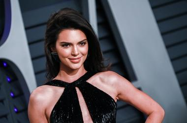 Kendall Jenner walking on the red carpet at the 2019 Vanity Fair Oscar Party held at the Wallis Annenberg Center for the Performing Arts in Beverly Hills, Los Angeles, California, USA on Feb. 24, 2019.