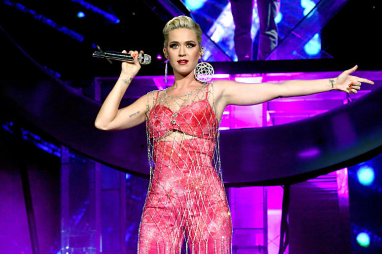 Katy Perry performs onstage with Zedd at Coachella Stage during the 2019 Coachella Valley Music And Arts Festival on April 14, 2019 in Indio, California.