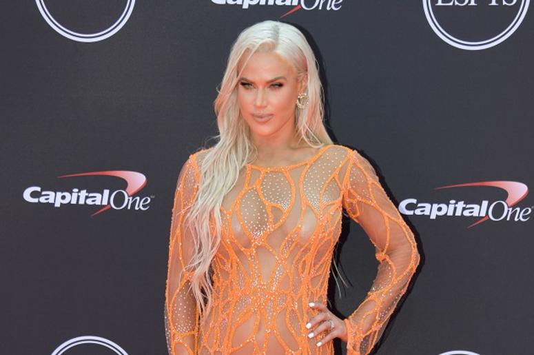 "Jul 18, 2018; Los Angeles, CA, USA; WWE personality CJ ""Lana\"" Perry arrives for the 2018 ESPYS at Microsoft Theatre. Mandatory Credit: Kirby Lee-USA TODAY Sports"