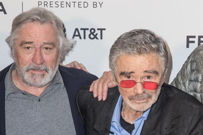 Robert De Niro and Burt Reynolds attend the 2017 Tribeca Film Festival 'Dog Years' at Cinepolis Chelsea on April 22, 2017 in New York City. (Photo by Joe Russo/imageSPACE). *** Please Use Credit from Credit Field ***