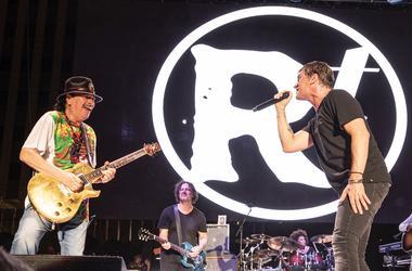 Carlos Santana & Rob Thomas at Bite of Las Vegas; Sept. 14, 2019