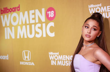Ariana Grande attends Billboard 2018 Women in Music at Pier 36