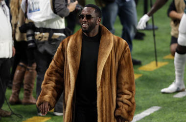 Recording artist P. Diddy a/k/a Sean Combs prior to the game between the New England Patriots
