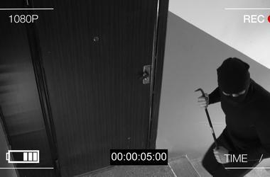 robber breaking in.