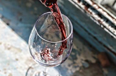 Stock image of wine.