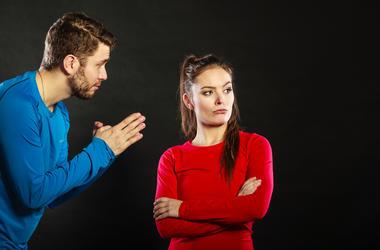 women mad at men