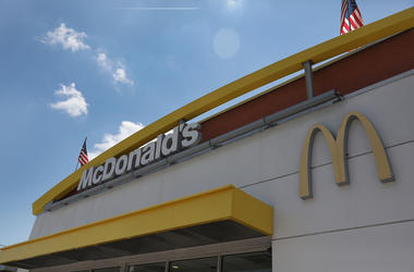 A McDonald's restaurant sign