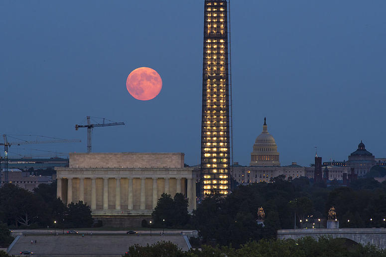 Harvest moon above DC