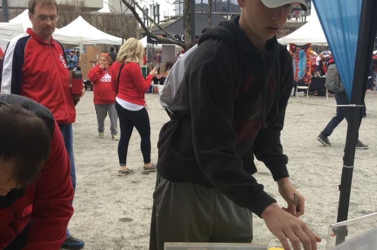 Club Fitness at Cardinals Opening Day Rally