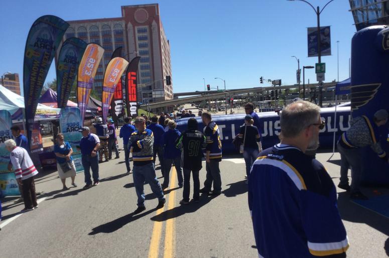 Blues Pregame Rally