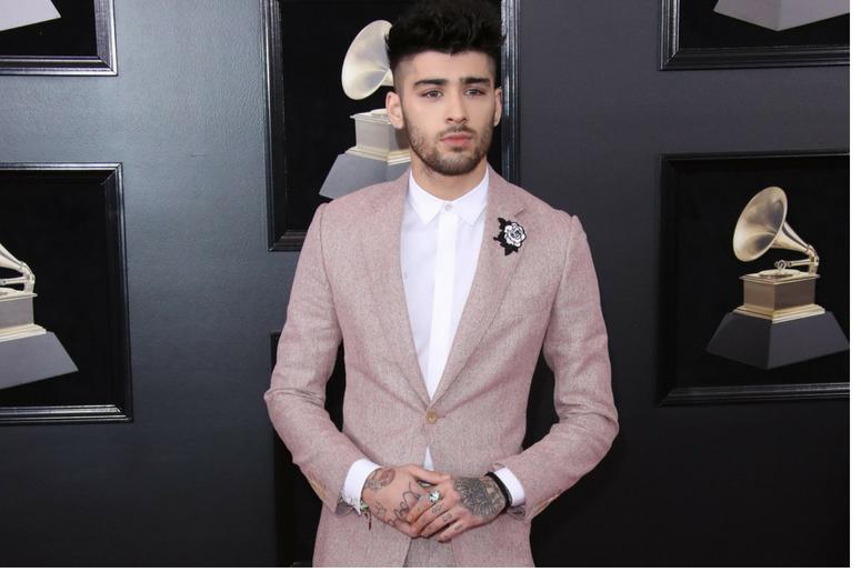 Zayn Malik arrives at the 60th Annual Grammy Awards