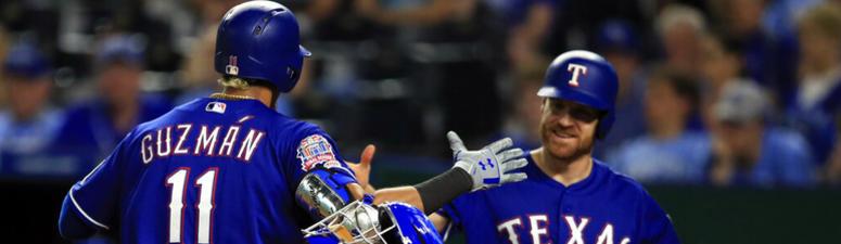 Guzman, Calhoun go deep as Rangers roll past Royals, 6-1