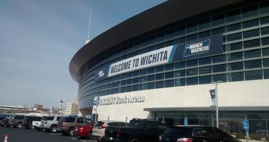 South side of Intrust Bank Arena in downtown Wichita Kansas