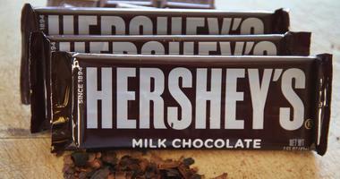 A pile of Hershey's chocolate bars
