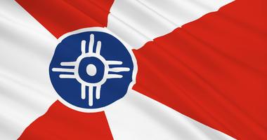 The flag of Wichita, Kansas