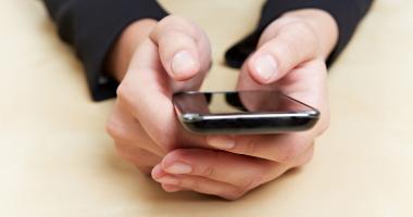 Hands on smartphone