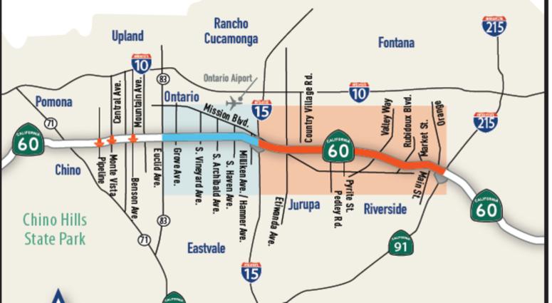 Map Of Arizona Freeway Shootings.Highway Weekend Closures Begin 60 Freeway Shutdown Could Be Worse