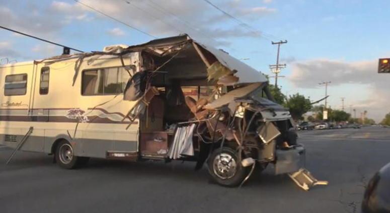 WILD VIDEO: Woman in Custody after Stolen RV Chase through