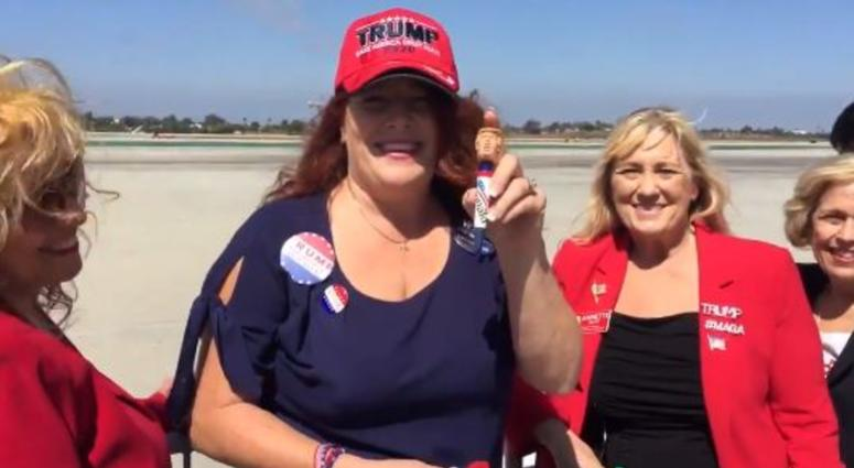 Air Force One Touches Down at LAX -- Trump Supporters Ecstatic