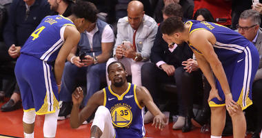 Kevin Durant injures his Achilles in Game 5 of the NBA Finals