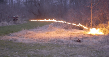 Insane Video: Need a Drone that uses a Flamethrower? It Exists