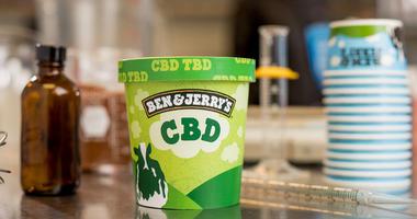 A pint of Ben & Jerry's CBD infused ice cream