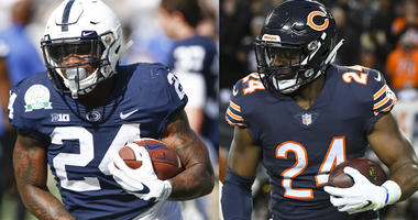 The Philadelphia Eagles added running backs Miles Sanders and Jordan Howard from Penn State and the Chicago Bears, respectively