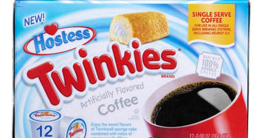 A box of Twinkies flavored coffee pods