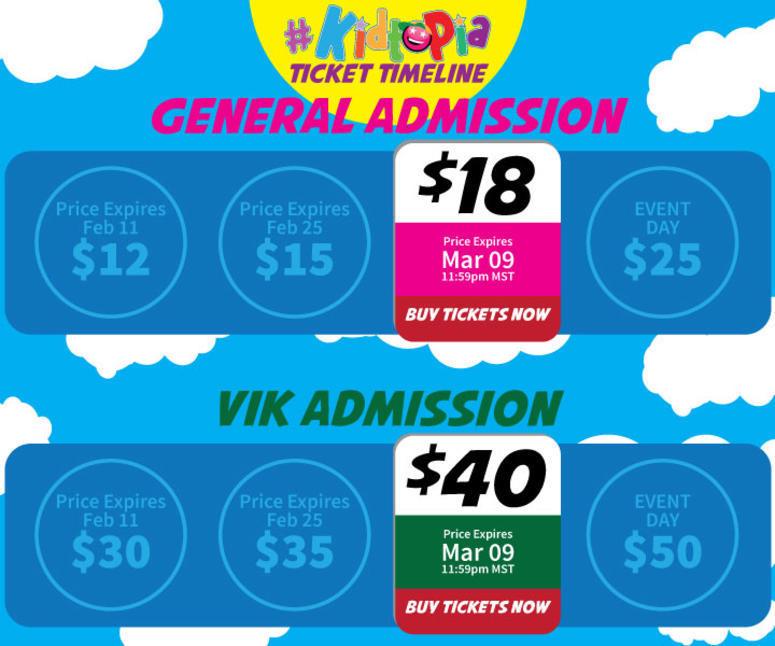 $12 GA and $30 VIK - Price Expires Feb 11 at 11:59pm