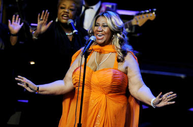 Aretha Franklin performs at the Nokia Theatre L.A. Live on July 25, 2012