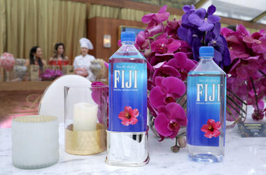 A view of Fiji water at the Official Viewing and After Party of The Golden Globe Awards