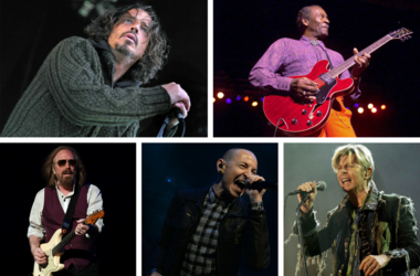 Tom Petty, Chester Bennington, Chuck Berry, Chris Cornell, and David Bowie