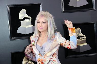 Jan 28, 2018; New York, NY, USA; Cyndi Lauper arrives at the 60th Annual Grammy Awards at Madison Square Garden. Mandatory Credit: Dan MacMedan-USA TODAY