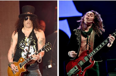 Slash and Jake Kiszka of Greta Van Fleet