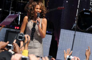 """1 September 2009 - New York , NY - Whitney Houston performs on ABC's """"Good Morning America"""" held at Rumsey Playfield, Central Park. Photo Credit: Brian Zak/Sipa Press /whitney_bz.008/0909020620"""