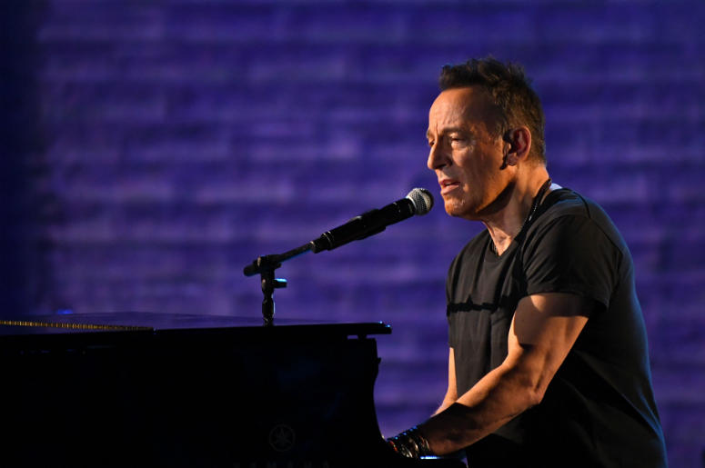 Bruce Springsteen performs a portion of his solo show Springsteen on Broadway at the 72nd Tony Awards