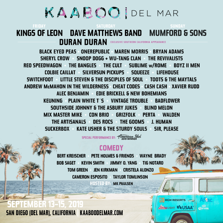 KOOL Kaaboo Line-Up