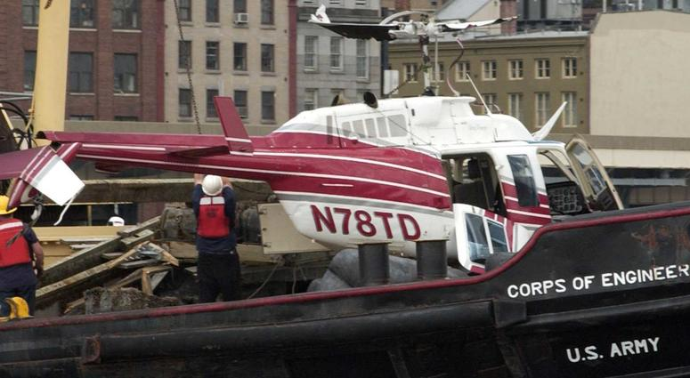 HELICOPTER CRASH IN EAST RIVER