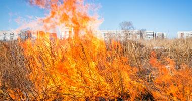Grass Fire In McKinney