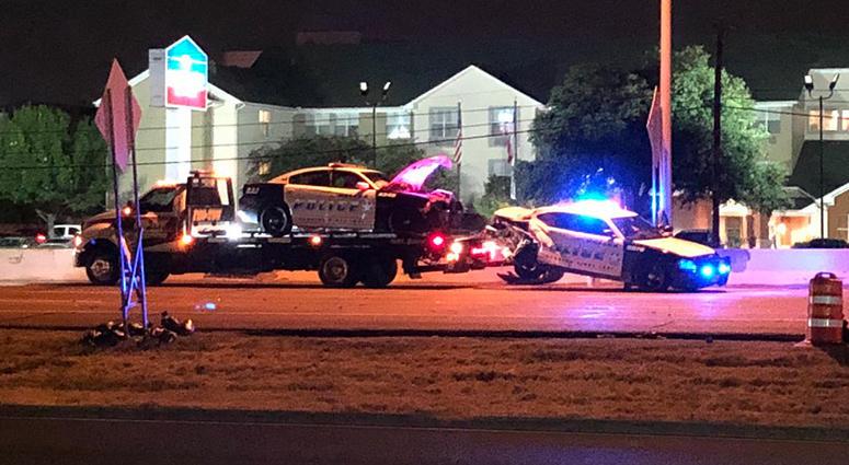 Dallas Police Crash I-35E