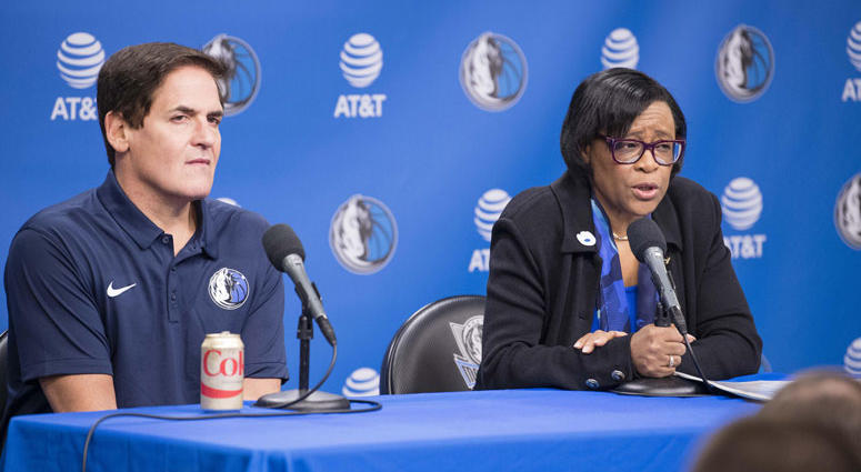 Mark Cuban and Cynthia Marshall
