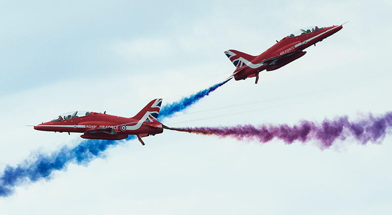 Britain's Royal Air Force Red Arrows