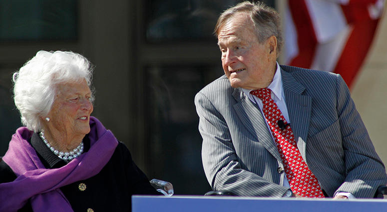 President George H.W. Bush and Barbara Bush