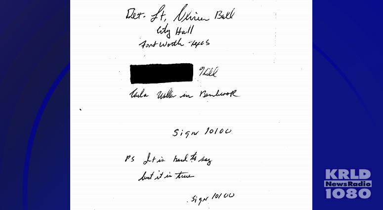 Cold Case Letter