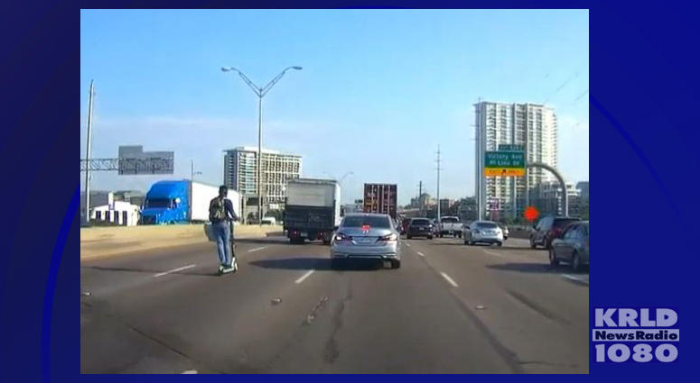 Man Spotted On Electric Scooter In Interstate Traffic | KRLD