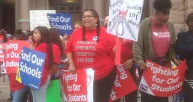 Texas Teachers Rally In Austin