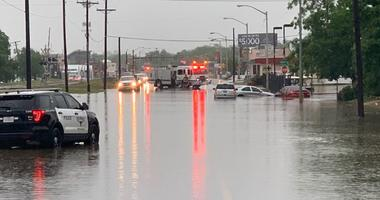 Fort Worth Fire Department responding to high-water calls