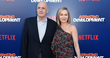 "Jeffrey Tambor, left, and Kasia Ostlun attend the LA Premiere of ""Arrested Development"""