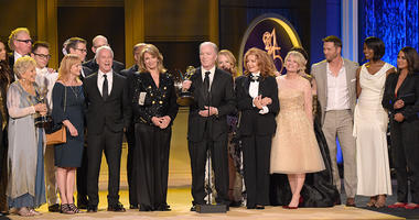 "Ken Corday and the cast and crew of ""Days of Our Lives"" accept the award for outstanding drama series at the 45th annual Daytime Emmy Awards at the Pasadena Civic Center on Sunday, April 29, 2018, in Pasadena, Calif."