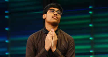 Nihar Janga after winning the National Geographic GeoBee
